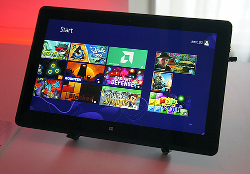 A Quanta tablet powered by the A4-1200 Temash APU running Windows 8.