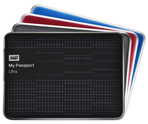 The WD My Passport Ultra comes in capacities of 500GB, 1TB and 2TB, as well as four colors