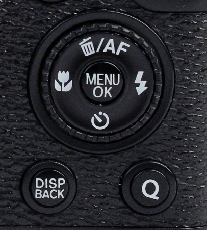 There's the Q button on the rear of the camera which replaces the RAW button found on the X10. This handy button brings up a menu of settings so you won't need to navigate the menu interface.