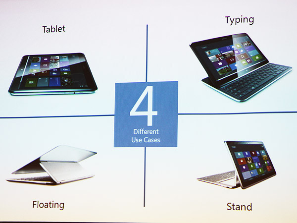 The four different modes of operation on the new Samsung ATIV Q.