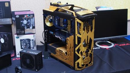 This custom-molded Cooler Master casing caught our eye during the DIY Tour