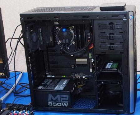 This casing was interesting. Using the new 4th generation Intel Core processor, notice the absence of a dedicated GPU.