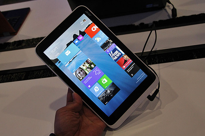 Microsoft promises that Windows 8.1 will run great on smaller tablets, like this 8.1-inch Acer Iconia W3.