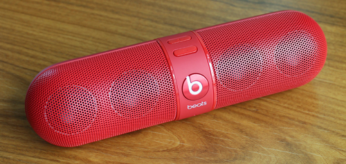 The Beats Pill is a capsule-shaped, wireless, portable Bluetooth speaker.