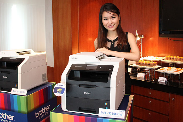 The flagship in this color LED series is the MFC-9330CDW. A color multi-function center that has print (22ppm), copy, scan, and fax functions, it's also equipped with a 35-page ADF, as well as wired and wireless networking capabilities.