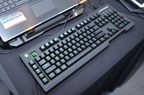 The new CM Storm QuickFire Rapid keyboard that sports green switches