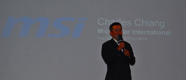 Mr. Charles Chiang, Corporate Executive VP of MSI, spoke at the company's press event at Computex 2013.