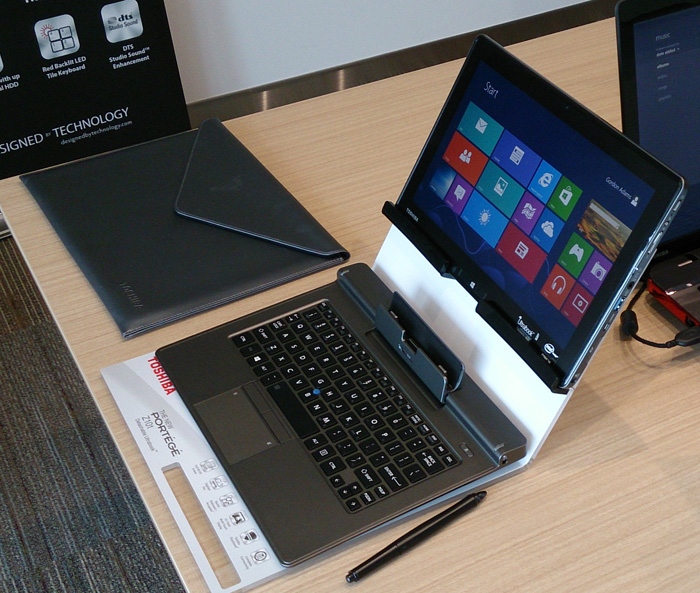 The 11.6-inch Toshiba Portege Z10t, is a hybrid Windows 8 Ultrabook that has the full suite of security features essential for an enterprise notebook, as well as a digitizer powered by Wacom technology.