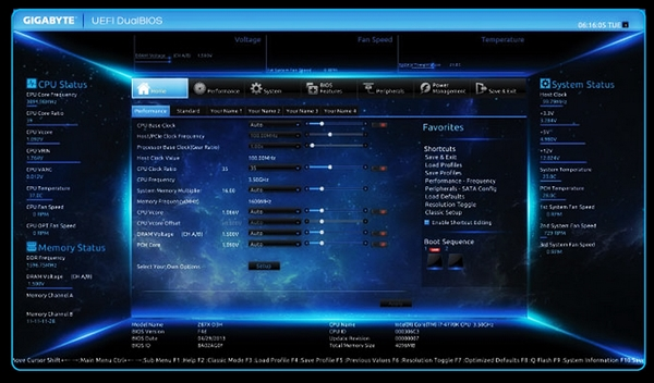 The new Dashboard also allows the user to adjust the BIOS settings of the motherboard in real-time.