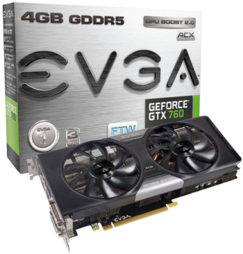 EVGA GeForce GTX 760 4GB FTW w/ ACX Cooling