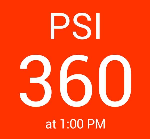 A screenshot of the SG PSI app.