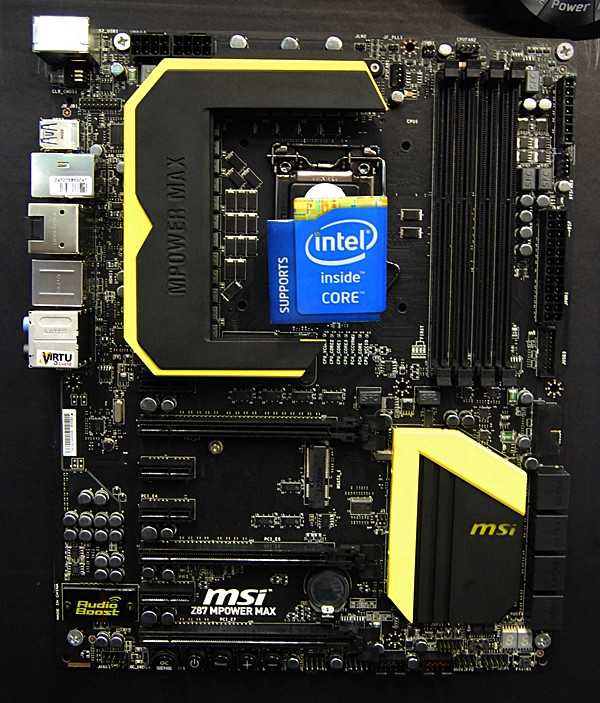 The MSI Z87 MPower Max motherboard.
