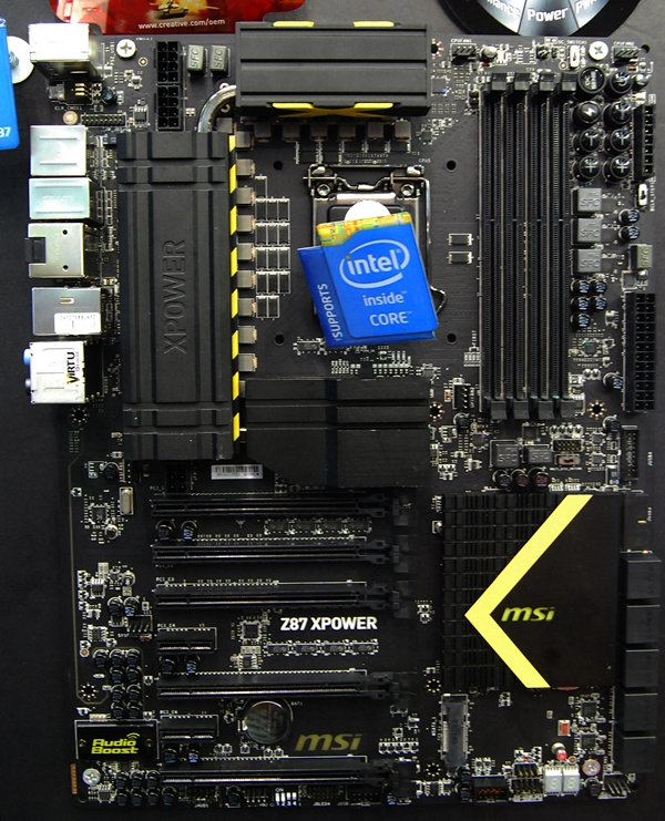 The MSI Z87 XPower motherboard that is the top dog in MSI's current range of OC Certified Intel 8-Series boards.