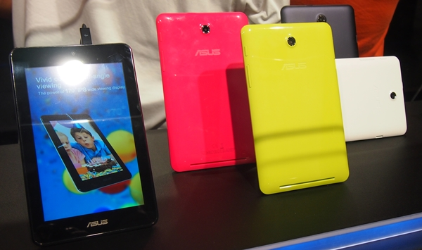 The ASUS MeMO Pad HD 7 will be available in four colors (black, white, pink and green) from July 2013.