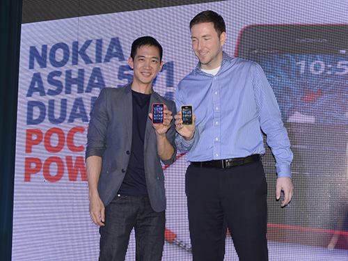 Gary Chan (Head of Marketing, Pan Asia) and Karel Holub, (General Manager of Nokia Philippines).