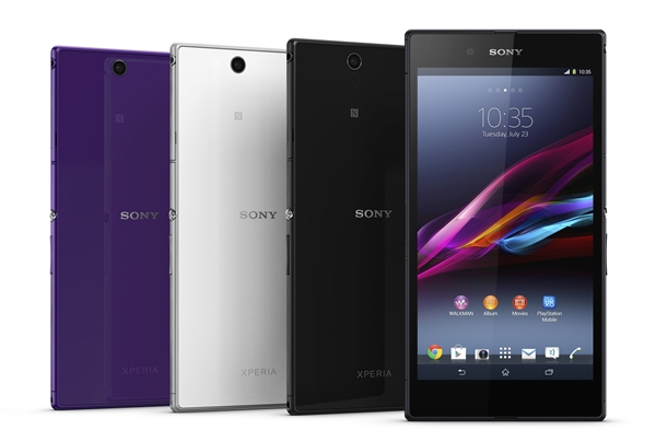The Sony Xperia Z Ultra will come in three colors: purple, white and black. <br> Image source: Sony