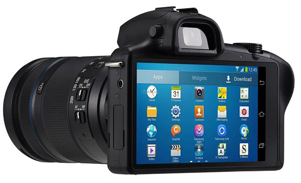 The Samsung Galaxy NX will be an Android-running mirrorless interchangeable lens camera. (Image source: Tinhte.)