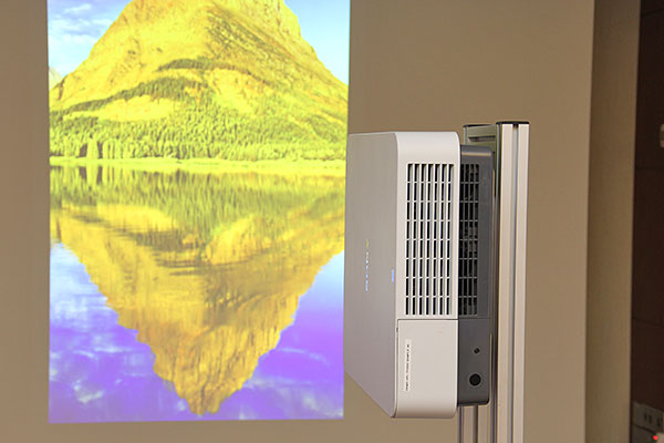 Vertical projection is a strong suit of laser projectors.