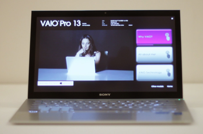 The stunning display on the VAIO notebooks are made with technology from Sony's television businesses.