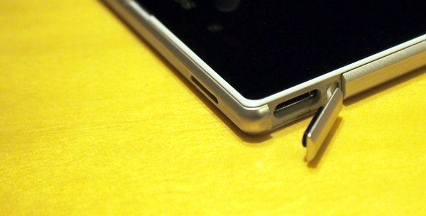 The micro-USB port is still located on the top left corner.