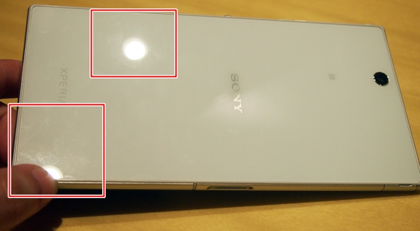 The fingerprints and smudges are not obvious on the white Sony Xperia Z Ultra but ...