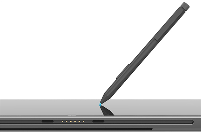 The Surface Pro's screen has an active digitizer layer that enables electromagnetic pen input.
