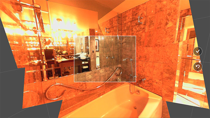 The built-in Camera app also has a panorama feature based on the Photosynth app.