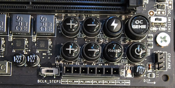 The XPower Direct OC buttons allow for overclockers to tweak both the multiplier and bus clock frequency in real-time.