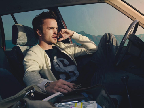 Aaron Paul (Jesse Pinkman from Breaking Bad) on Need for Speed movie. (Source: justpushstart.com)