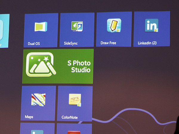 Pinned Android apps in Windows 8 start screen.