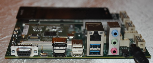 Here's a closer look at some of the ports present on the DragonBoard platform,