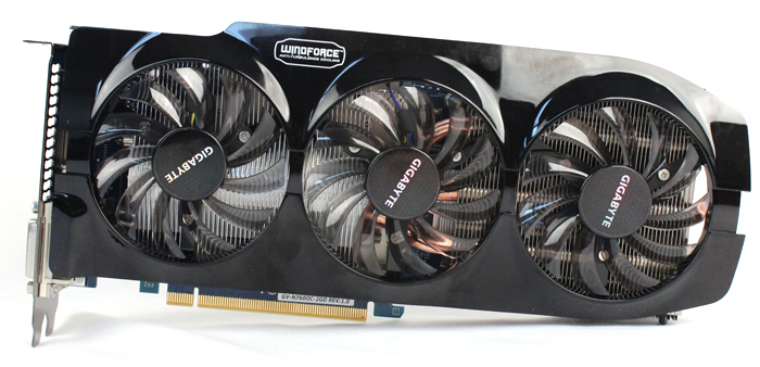 Due to the triple-fan cooler, the card is quite large, measuring 275 x 136.6 x 43mm. That's about 10.8 inches long if you're used to this form of measurement.