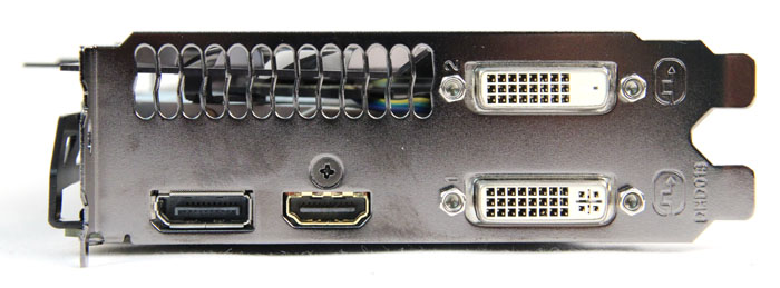 Ports-wise, the Gigabyte GTX 770 is also the same as the reference card, sporting one DVI-D port, one DVI-I port, one HDMI port and one DisplayPort port.