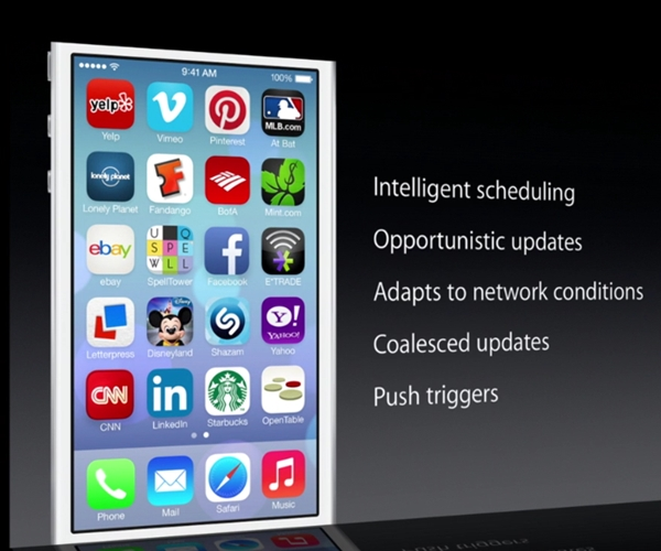 "Multitasking in Apple iOS 7 seems to be ""smarter"" than its counterparts on other mobile platforms."