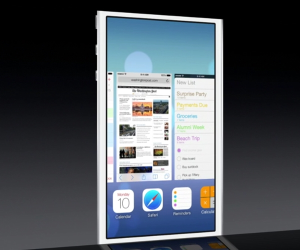 Apple's new implementation of multitasking is like a cross between Windows Phone and WebOS.