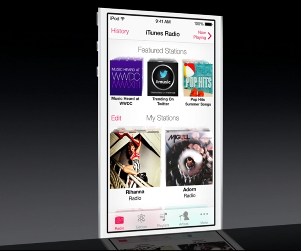 Apple takes the fight to Spotify, Google Play Music All Acess and Pandora with its iTunes Radio music streaming service.
