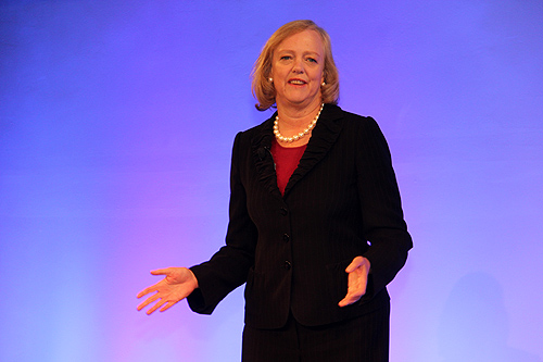 Meg Whitman, HP Chief Executive Officer was present at HP World Tour to deliver her keynote and a major announcement with DreamWorks Animation CEO, Jeffrey Katzenberg