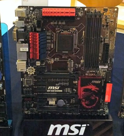 We've seen the top GD65 Gaming board variabt, so here's the MSI Z65-G45 Gaming board. It's only S$259, a full $100 cheaper than the GD65 version but it still retains the core features like Killer Ethernet, Sound Blaster Cinema software enhanced audio, multi-GPU support and Lucid Virtu MVP 2.0.