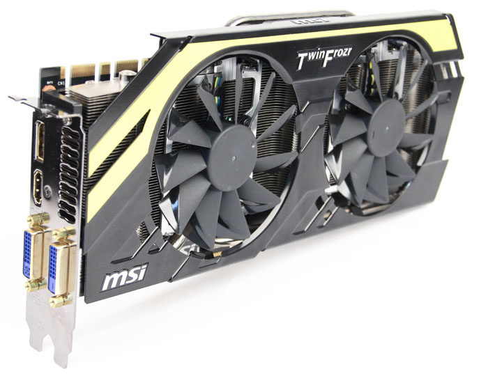 MSI's Twin Frozr IV cooler is quite similar to ASUS' with four copper heatpipes in direct contact with the GPU. It sports much larger fans however, measuring a massive 100mm in diameter.