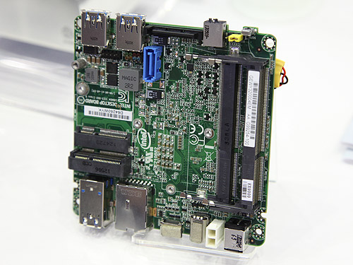 The SATA port, mini PCIe slots and SODIMM connectors are all located on the opposite side of the board.