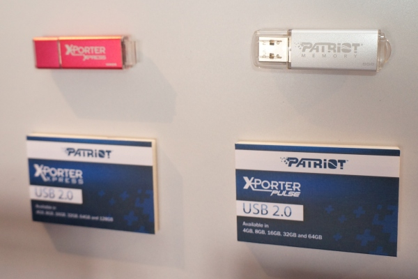 The Xporter Xpress is available in up to 128GB capacities, while the Xporter Pulse (right) goes up to 64GB.