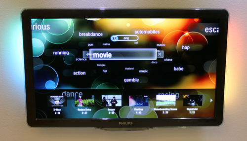 The greater accuracy of the uWand can allow for more complex TV menus according to Philips.