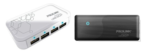 The Prolink PUH302 (left) and the Prolink PUH301 (right) USB 3.0 four-port Hub.