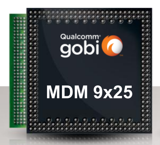 Qualcomm's latest Gobi 9x25 is the first embedded, mobile computing solution to support LTE carrier aggregation and LTE Category 4 with peak data rates of up to 150Mbps.