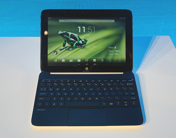 The SlateBook x2 is an Android tablet and notebook all in one. The keyboard dock can be attached for easy typing and also increases battery life.