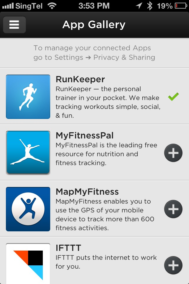 Pairing the Up band with supported apps in the Up platform can be done quite easily.
