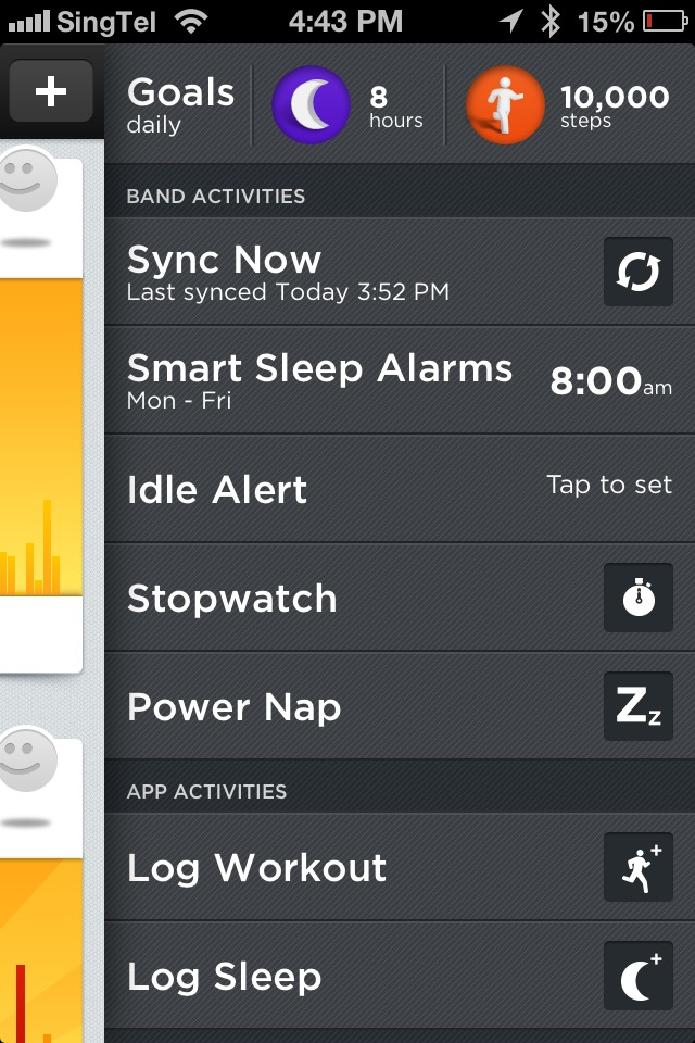 To make any changes to advanced settings for features like Sleep Mode, Power Nap and Idle Alert, the Up band must be plugged in to your smartphone.