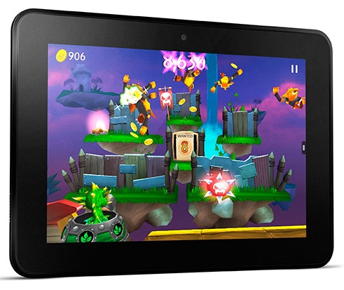 The new Kindle Fire HD is said to be lighter than the previous model (pictured)