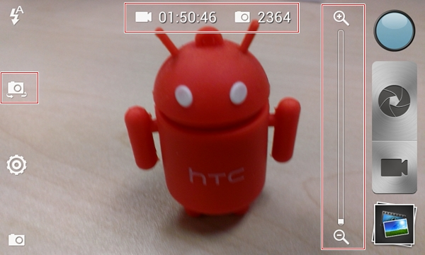 The camera user interface of the HTC One SV is one of our favorites.
