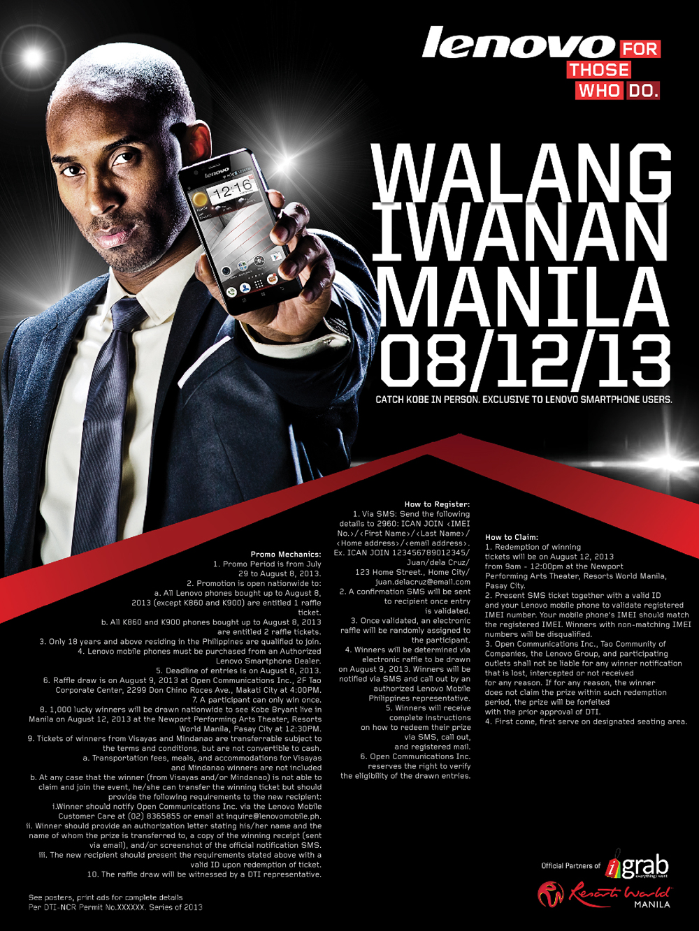 Lenovo Mobile To Thrill Manila With Kobe Bryant
